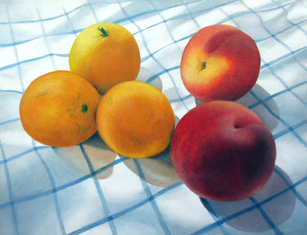 oranges & peaches 2020 oil on canvas 30x39