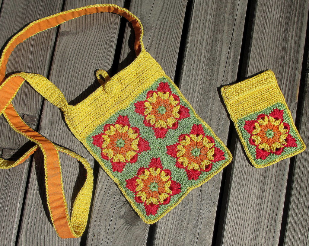 pursecase yellow green red