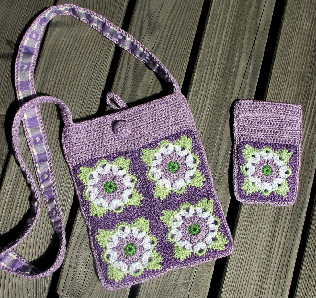 pursecase lilac pastel green white