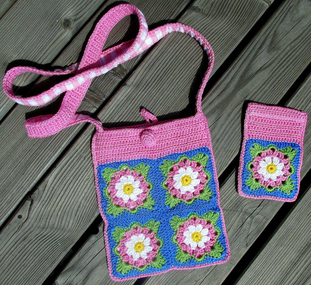pursecase pink azure white