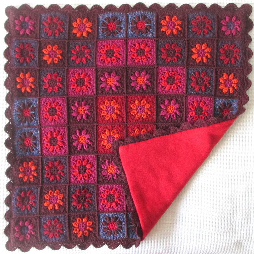 red fleece lining detail