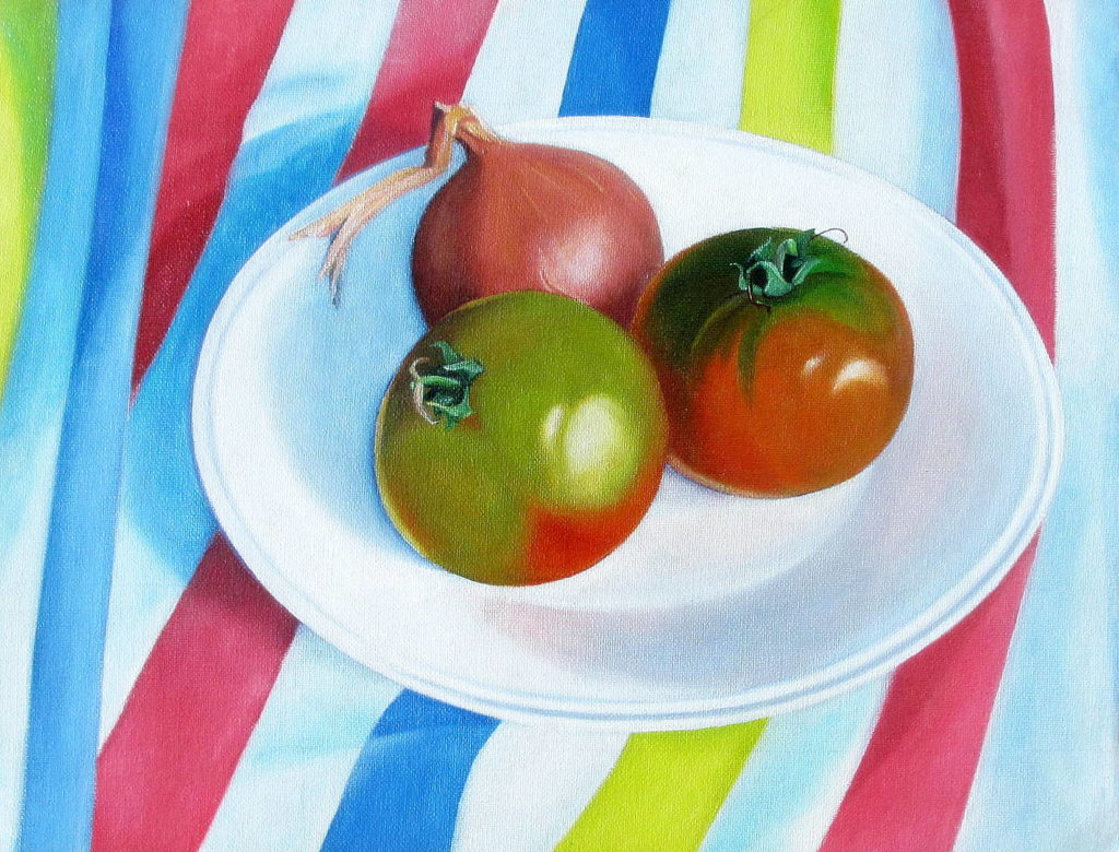 tomatoes 2012 oil on canvas 30x39