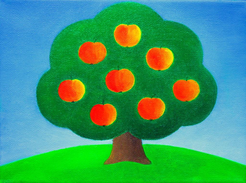 illustrative work apple tree