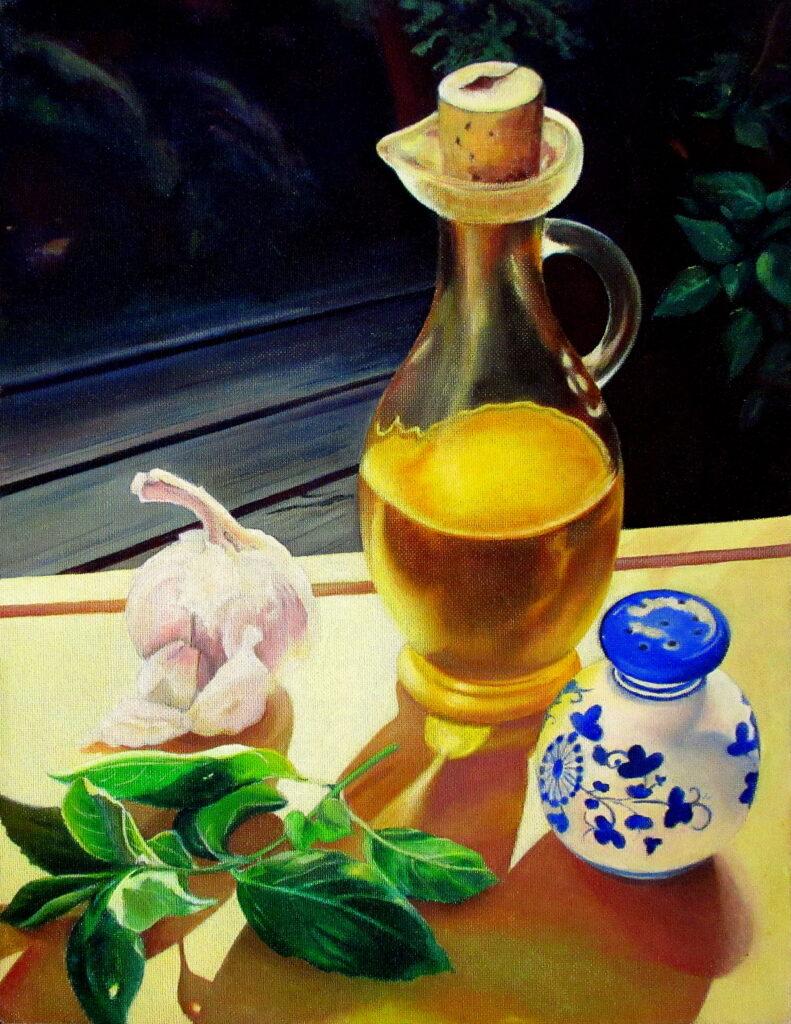 still lifes olive oil 2020 30x39