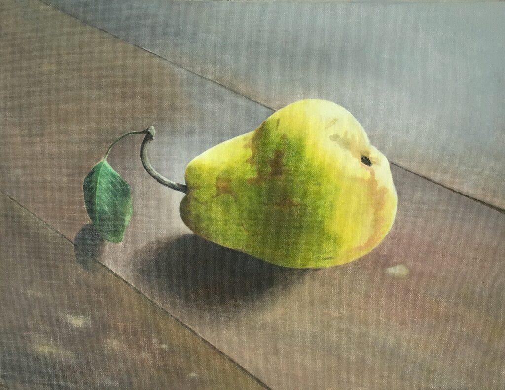 still lifes pear 2020 oil on canvas 30x39