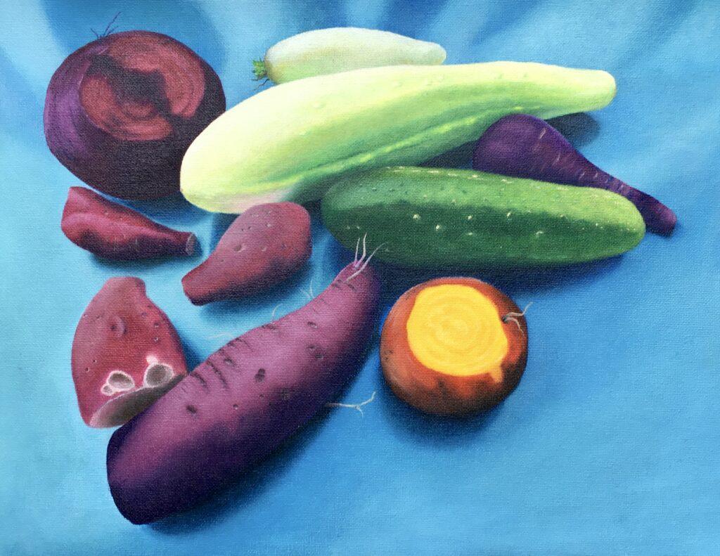 still lifes first harvest 2020 oil on canvas 30x39